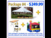 PARTY DEAL TENT BOUNCE HOUSE CHAIRS TABLES CUSTOMER PICKUP