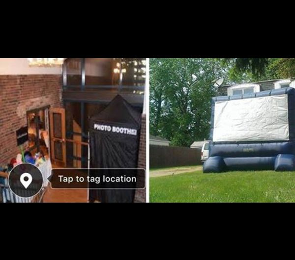 free outdoor movies & photo booth
