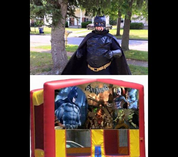 BATMAN CHARACTER & BOUNCE HOUSE COMBO