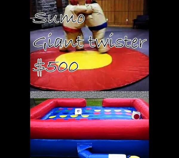 GIANT TWISTER & SUMO WRESTLING COMBO