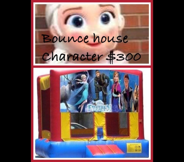 FROZEN CHARACTER AND BOUNCE HOUSE COMBO