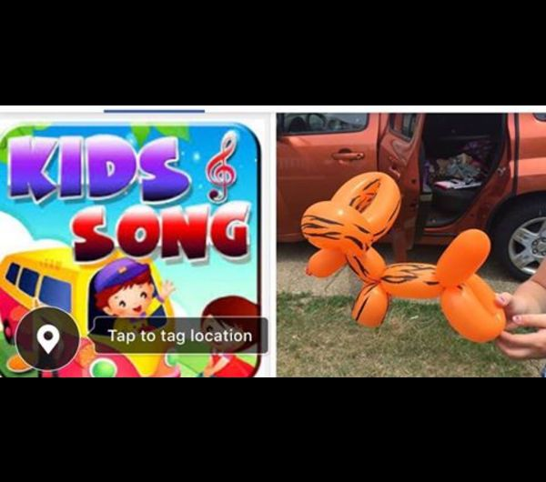 BALLOON ARTIST AND KIDS' SONGS