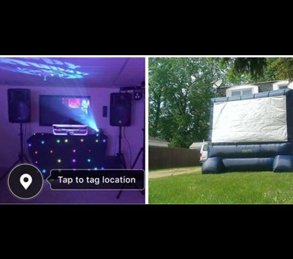 book a dj for 4 hour get a free movies screen