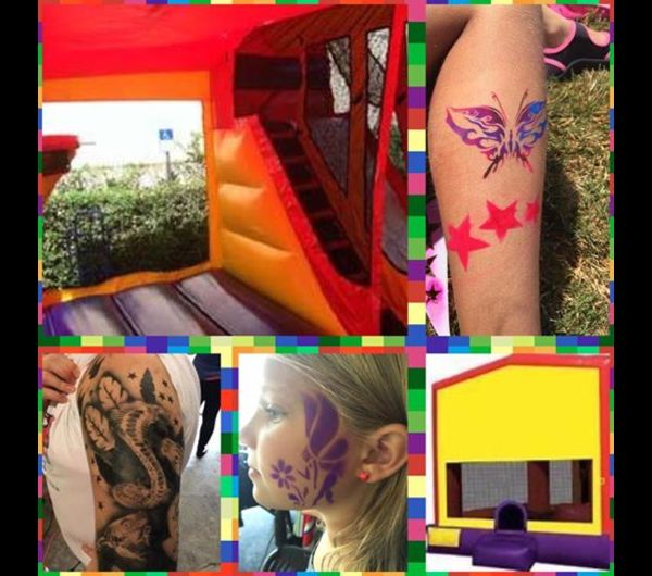 Airbrush tattoo, face painting, &  big bounce house
