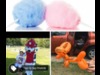 Cotton candy costume balloon animals