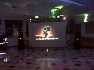 DJ + VIDEO PROJECTION SCREEN
