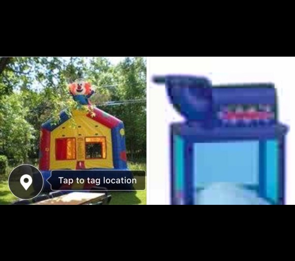CLOWN THEMED BOUNCE HOUSE & SNOW CONE MACHINE