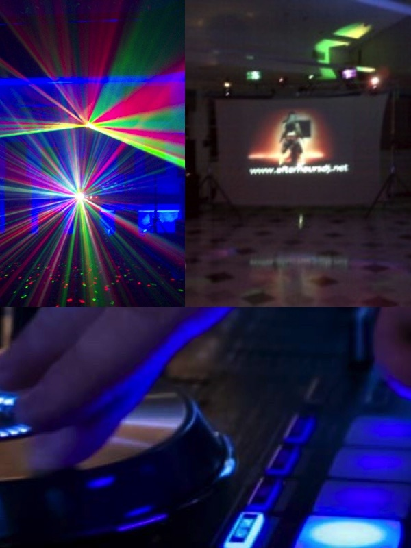 Event DJ+ Song Video Projection+ Projection Screen 4 Hours/$1200