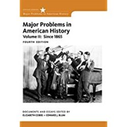 Used| COBBS / MAJOR PROBLEMS IN AMERICAN HISTORY VOL II| Instructor: GONZALEZ