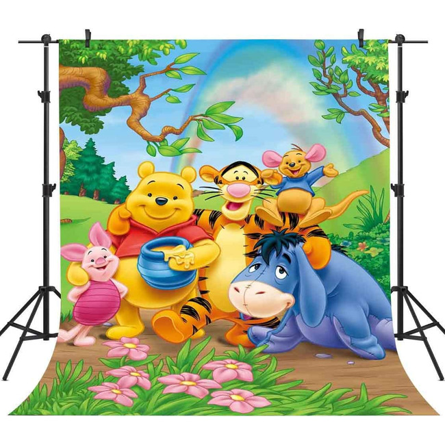5x7ft  Winnie Rainbow Backdrop