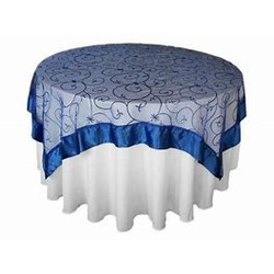 60''X60'' EMBROIDERED OVERLAY-  ROYAL BLUE