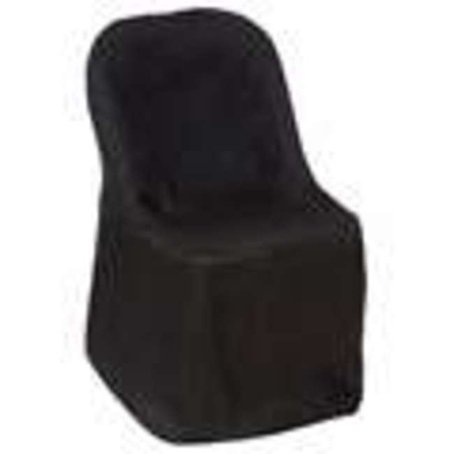BLACK FOLDING CHAIR COVER POLY-