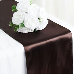 12X108 SATIN TABLE RUNNER-CHOCOLATE