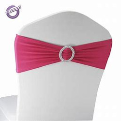 Spandex chair band with buckle- 8 COLORS