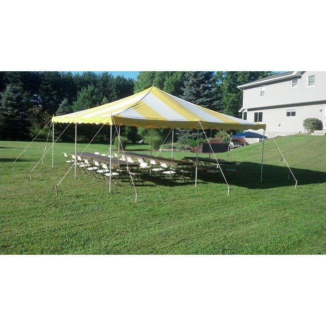 Pole Tent 20x20 Yellow/White