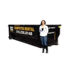 15 yd. driveway dumpster *Availability often changes, call or text if showing unavailable*