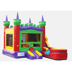 Rainbow Castle Water Slide