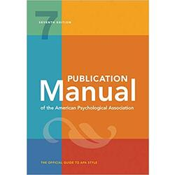 NEW || AMER PSYCH ASS / PUBLICATION MANUAL (7th)