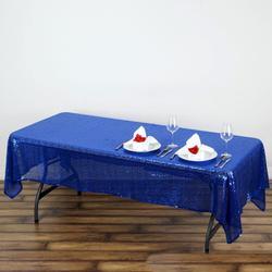 60x102 Sequin Tablecloth- royal blue
