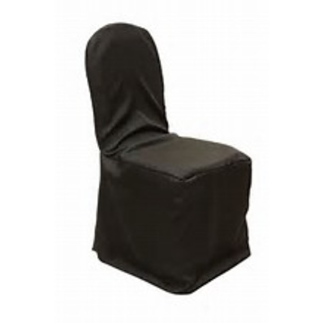 POLYESTER BANQUET CHAIR COVER- BLACK