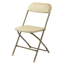 Beige Folding Chair
