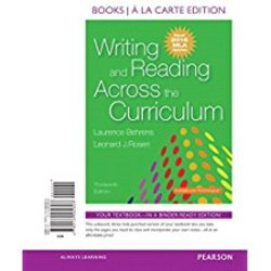 NEW || BEHRENS / WRITING & READING ACROSS CURRICULUM 2016 MLA UPDATE (LOOSE-LEAF)