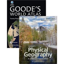 USED || HESS / MCKNIGHT'S PHYS GEOG,CA ED 4th/W/ATLAS