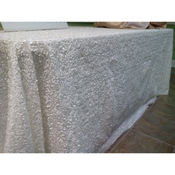 60 x 102 Sequin tablecloth- white