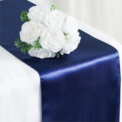 12X108 SATIN TABLE RUNNER-NAVY BLUE