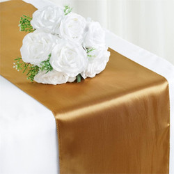 12X108 SATIN TABLE RUNNER-GOLD