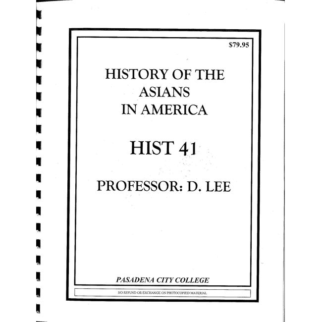 NEW    LEE / HISTORY 41 READER (PURCHASE ONLY)