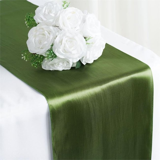 12X108 SATIN TABLE RUNNER-MOSS WILLOW