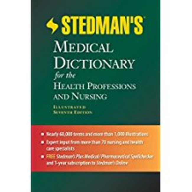 Used| STEDMAN / STEDMAN'S MEDICAL DICTIONARY FOR HEALTH PROF & NURSING (W/CD)| Instructor: BIESEM...