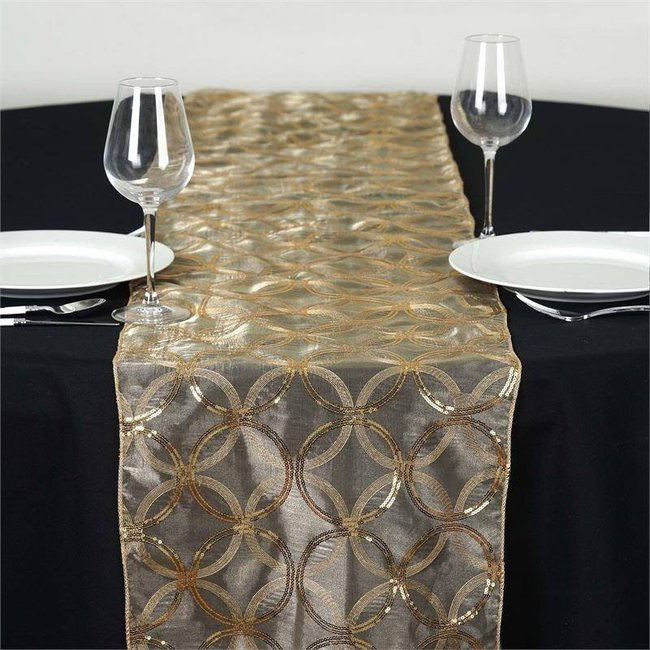 gold sequin runner