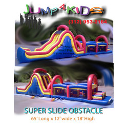 Super Double Lane Obstacle Slide