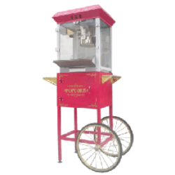 Popcorn Machine with 50 servings and 2 picnic tables