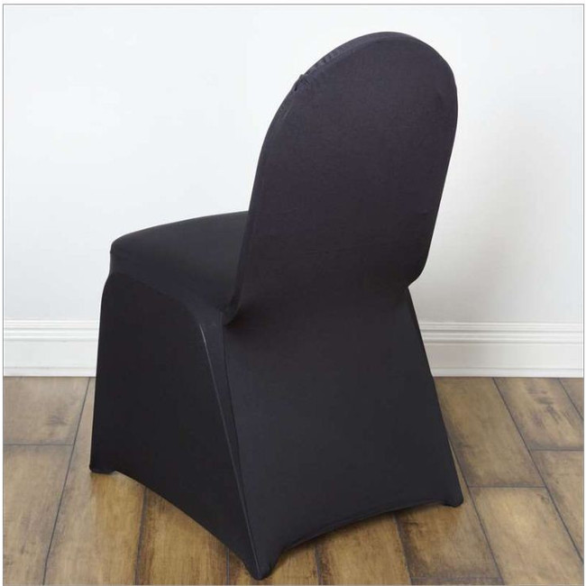 SPANDEX CHAIR COVERS- BLACK