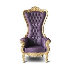 Purple/gold high back throne