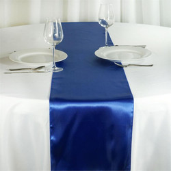 12X108 SATIN TABLE RUNNER-ROYAL BLUE