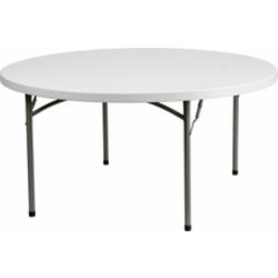 60'' Round Table-White