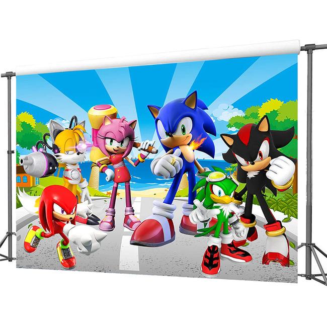 7x5ft Sonic Backdrop