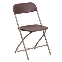 Mocha Chairs W/Brown Frame