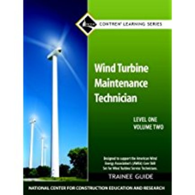 Used| NCCER / WIND TURBINE MAINTENANCE TRAINEE GUIDE (V2)| Instructor: LINDY