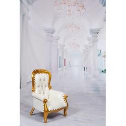 Mini Children'S Gold Throne...