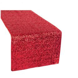 12x108 SEQUIN TABLE RUNNER- RED