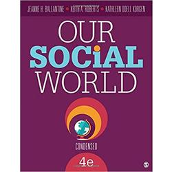 USE || BALLANTINE / OUR SOCIAL WORLD 4TH ED