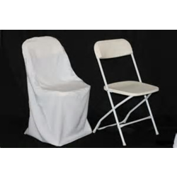 POLYESTER FOLDING CHAIR COVER- IVORY
