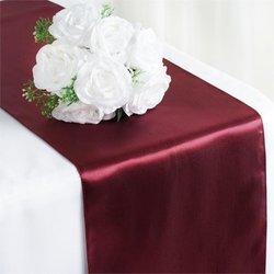 12X108 SATIN TABLE RUNNER-BURGUNDY