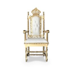 Baby gold/white lion throne with crown