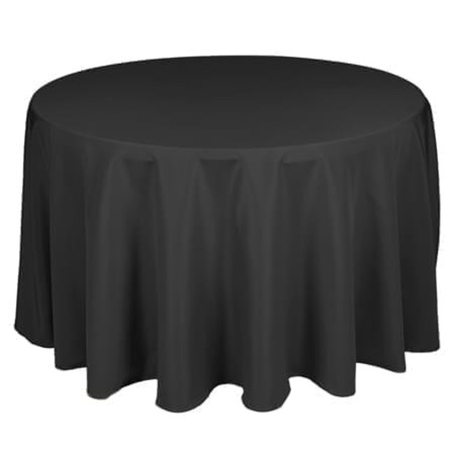 Table Linen Black, 90'' Round